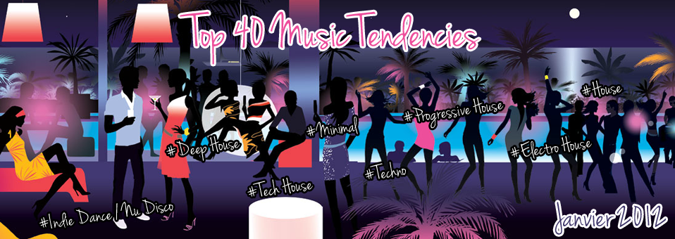 Top 40 Music Tendencies Janvier 2012